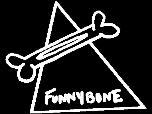 funnybone transparent logo continue button